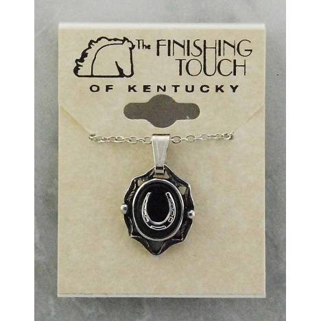 Finishing Touch Oval Stone with Horseshoe Necklace