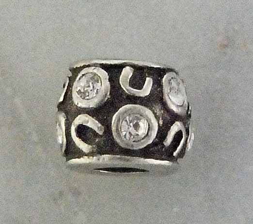 Joppa Random Horse Shoe Bead with Stones