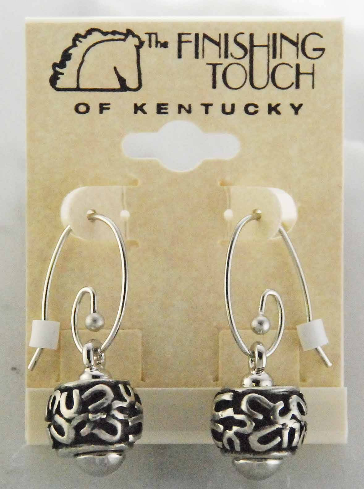 Finishing Touch Pandora Wire Earrings with Drop Link Random Horse Shoe Bead