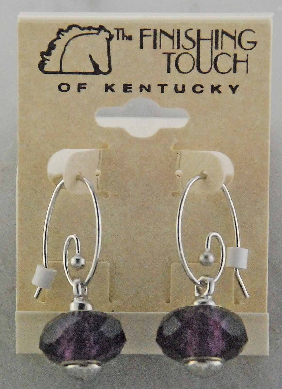 Finishing Touch Pandora Wire Earrings with Drop Link Glass Bead