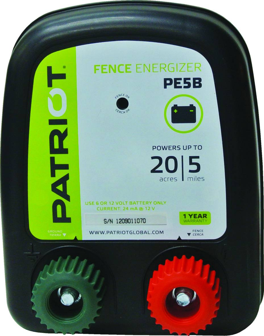 PATRIOT PE5B DC Fence Charger