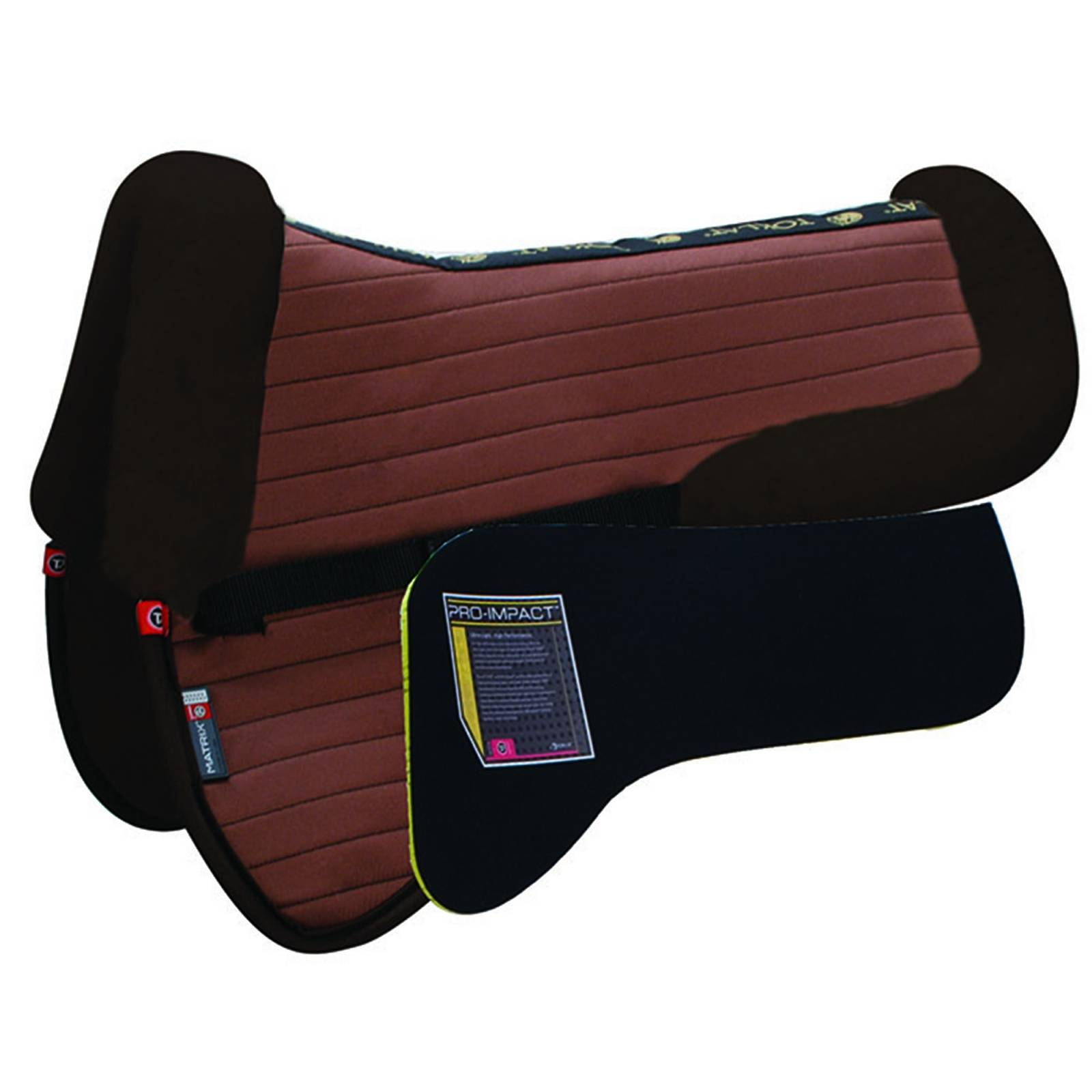 Outlet - Matrix Ergomonic All Purpose Coolback Half Pad with Pro-Impact Inserts, Large, Brown