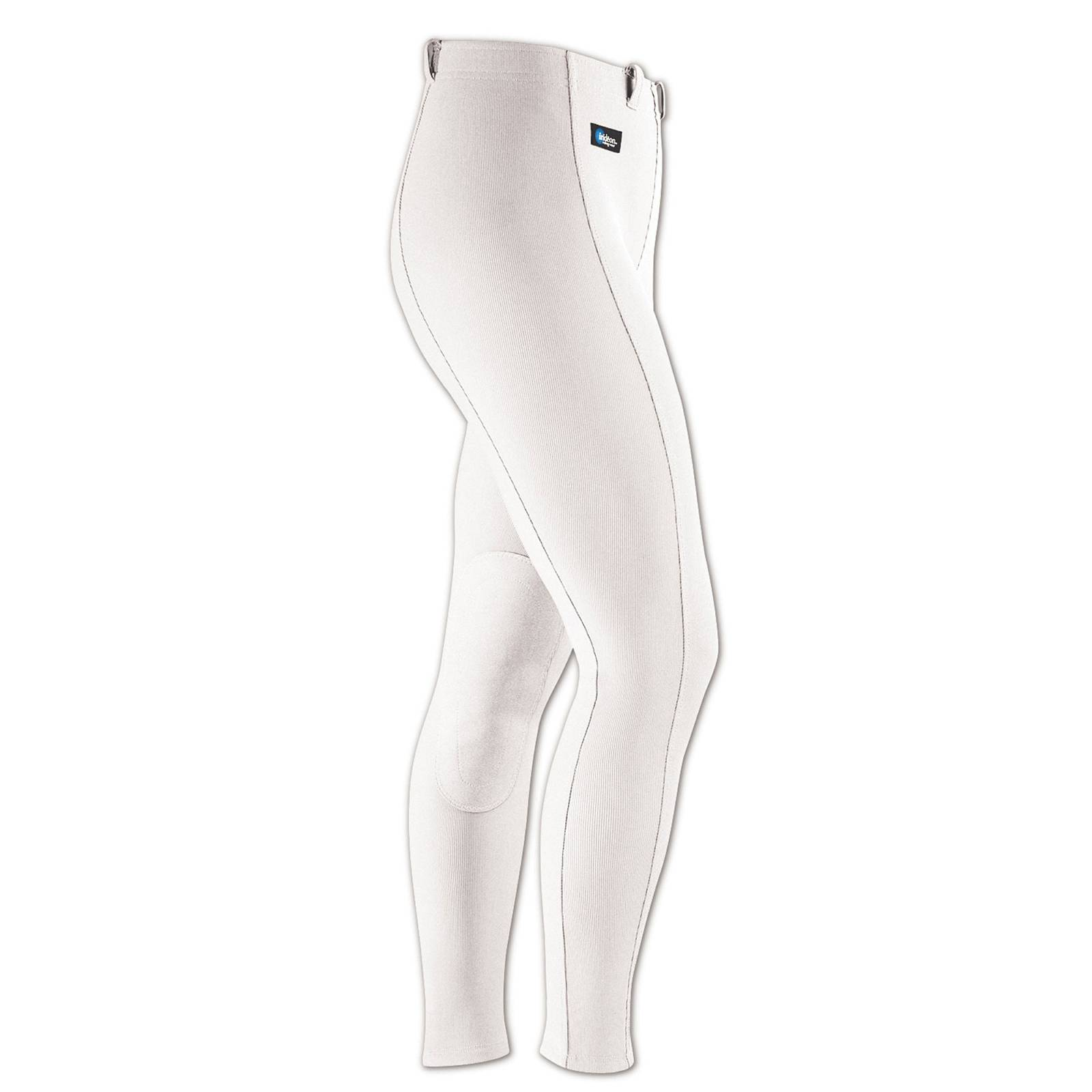 Outlet - Irideon Cadence Stretch-Cord Breeches - Kids, Knee Patch, X-Large, White