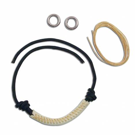 Myler Combination Bit Rawhide NoseBand Kit