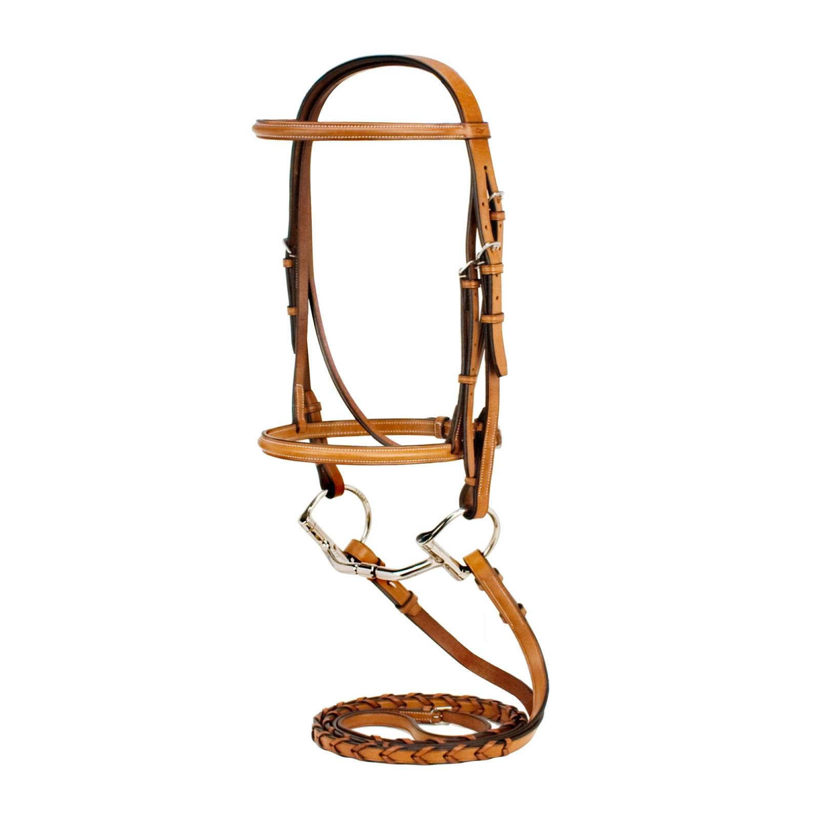Silverleaf Plain Raised Bridle with Reins