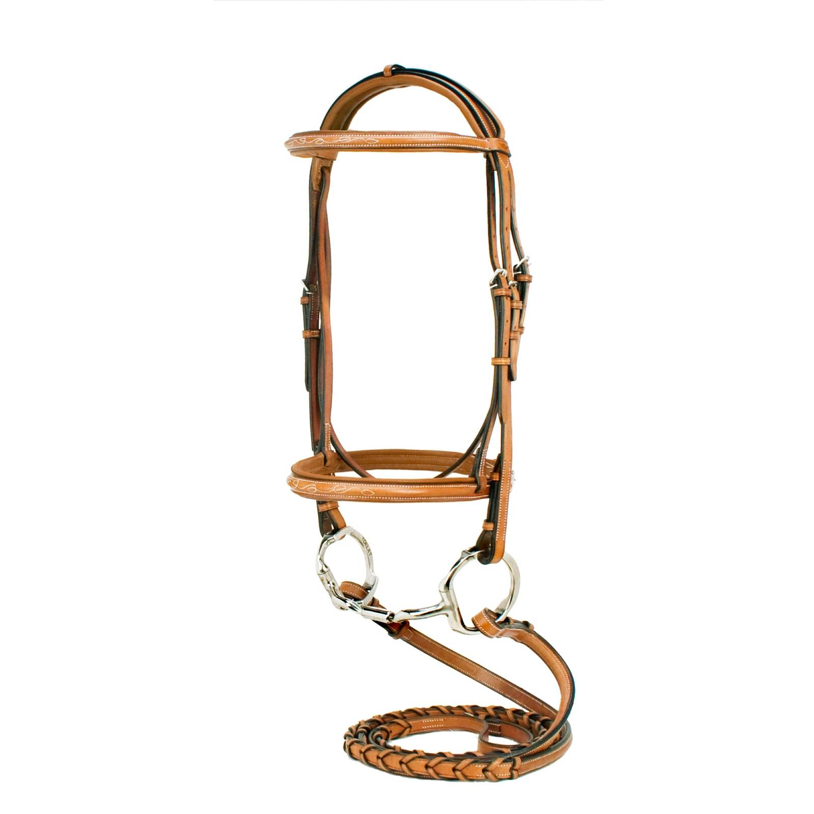 Silverleaf Raised Padded Bridle with Reins