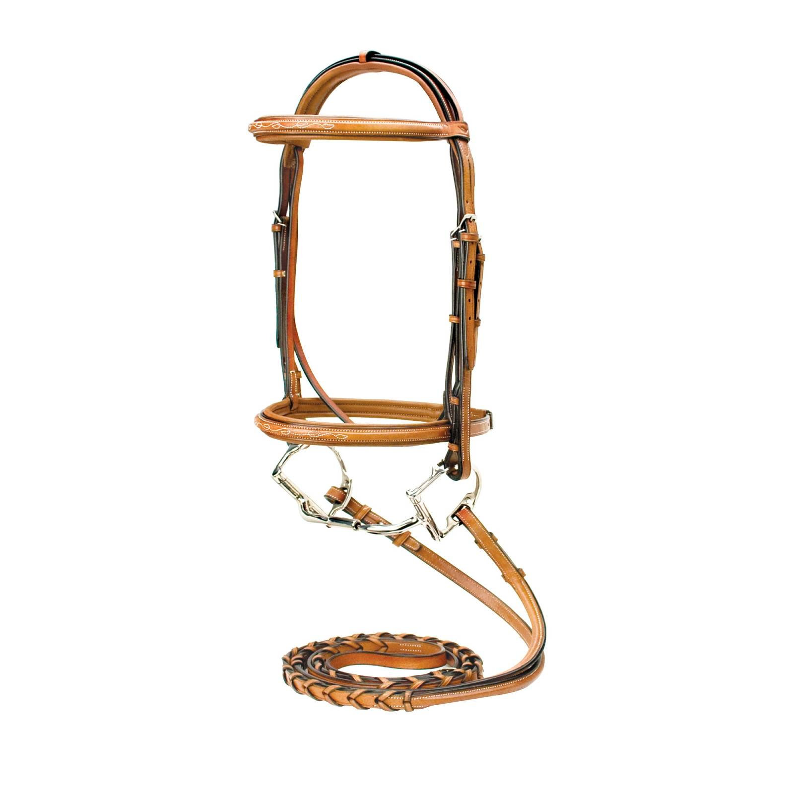 Silverleaf Fancy Square Raised Bridle w/Reins