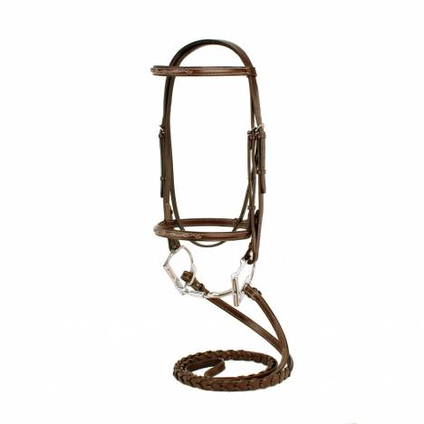 Silverleaf Fancy Square Raised Bridle with Reins