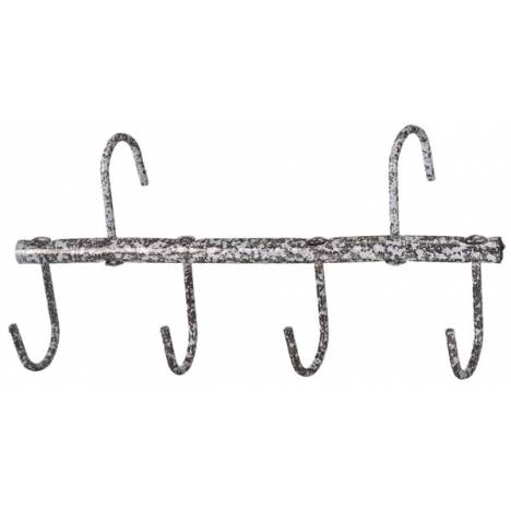 Tough-1 Traveling Tack Rack in Hammered Finish - 6 Pack