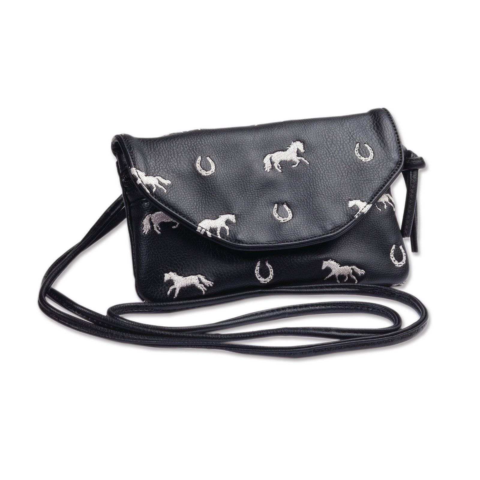 Kelley Faux Leather Embroidered Horse String Purse