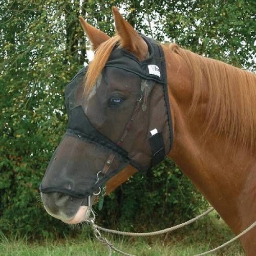 Outlet - Cashel Quiet Ride Fly Mask - Standard, Yearling, Grey