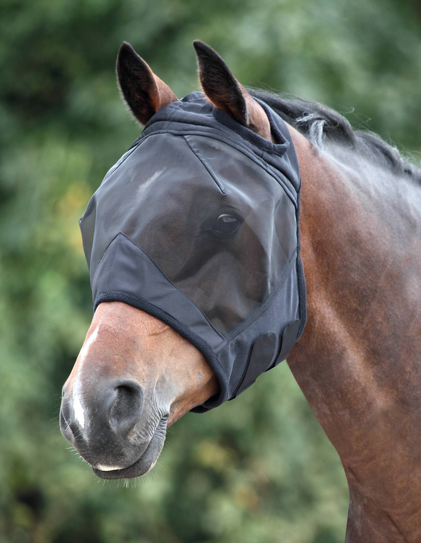 Shires Fine Mesh Fly Mask - Ear Holes