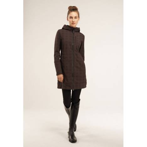 Asmar Ladies All Weather Rider Coat-Brown Plaid