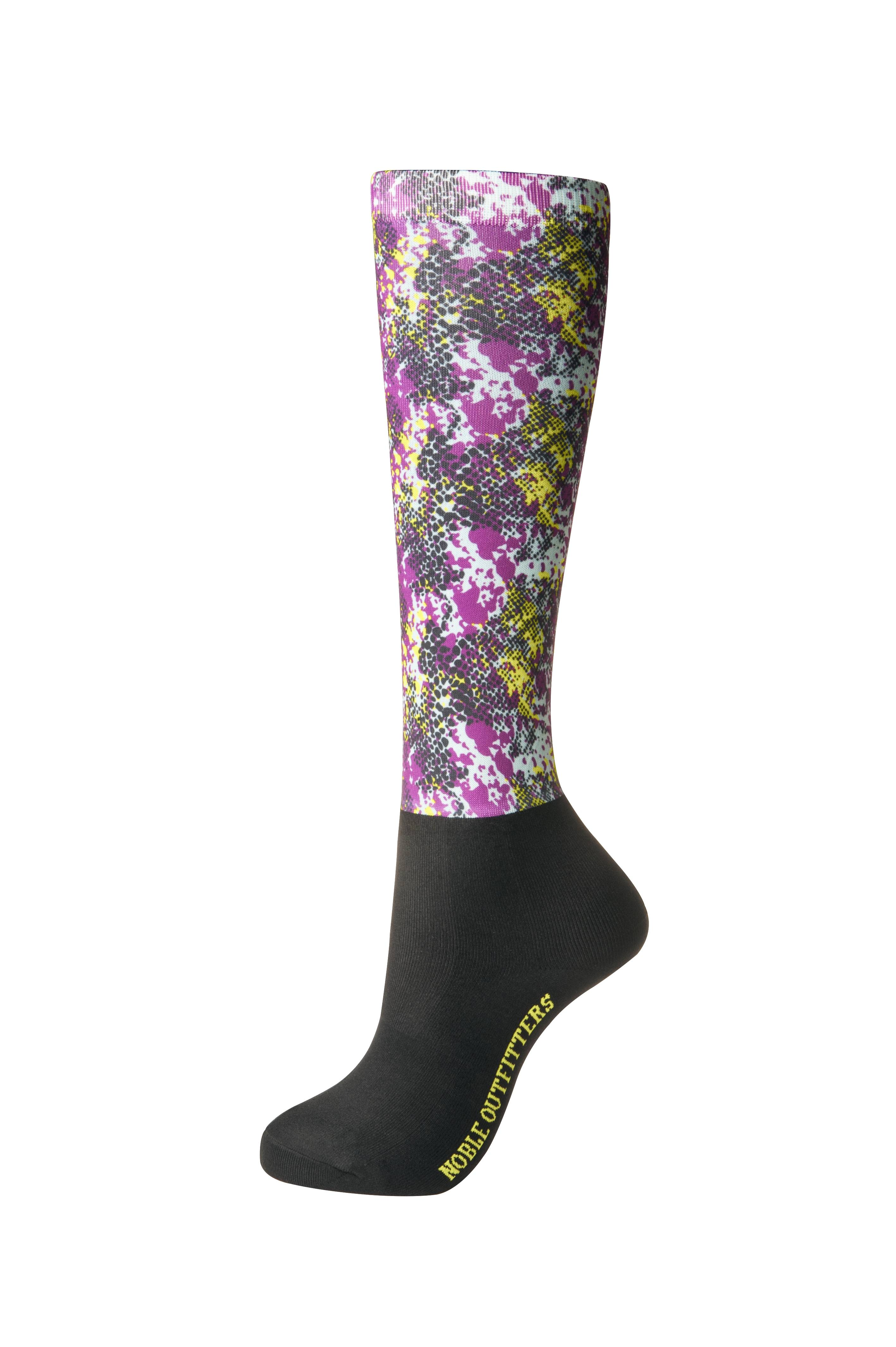 Noble Outfitter Ladies Printed Peddies OTC - Blackberry Snakeskin