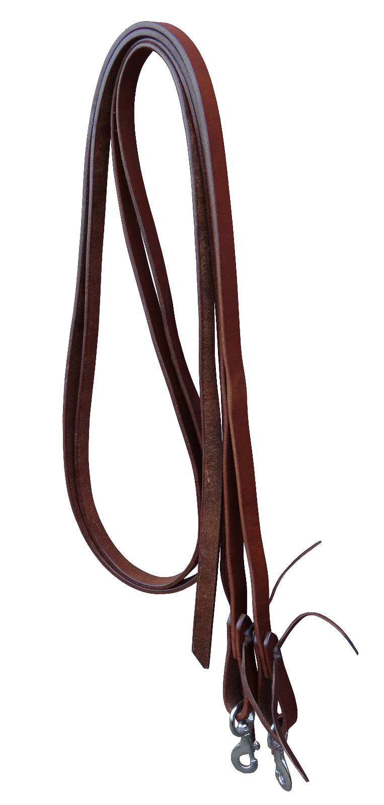 Turn-Two Harness Leather Split Reins - Snap End