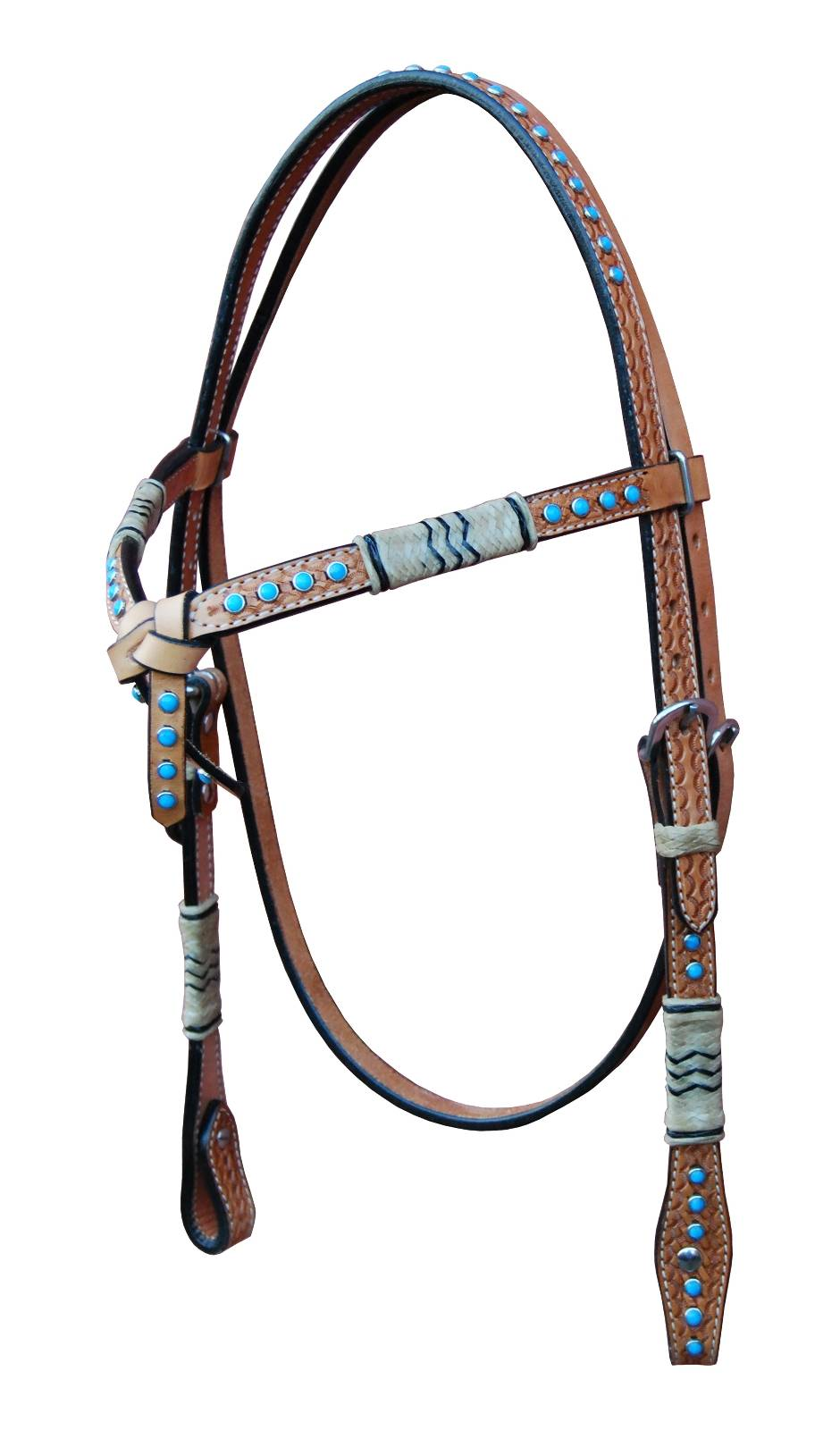 Turn-Two Knotted Headstall - Tucson