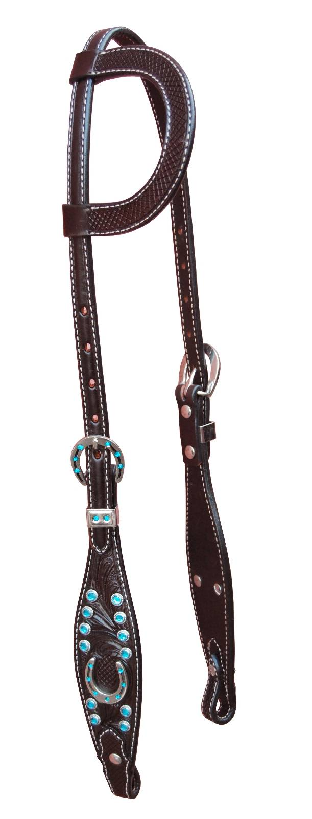 Turn-Two One Ear Headstall - Stampede