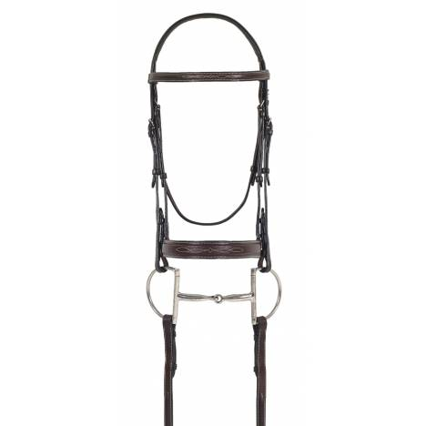 Ovation Fancy Comfort Crown Padded Bridle - Wide Noseband