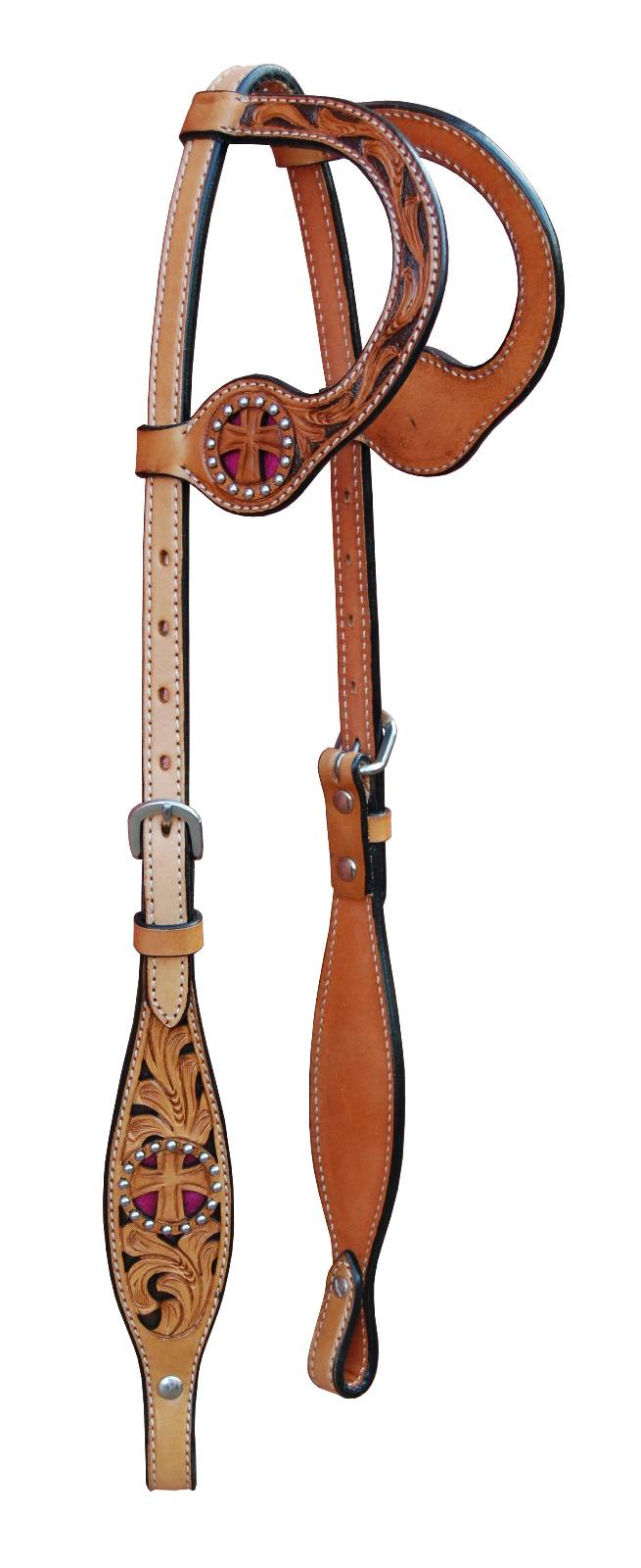 Turn-Two Double Ear Headstall - St. Christopher