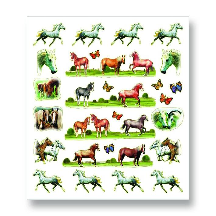 Kelley Horses & Butterflies Stickers