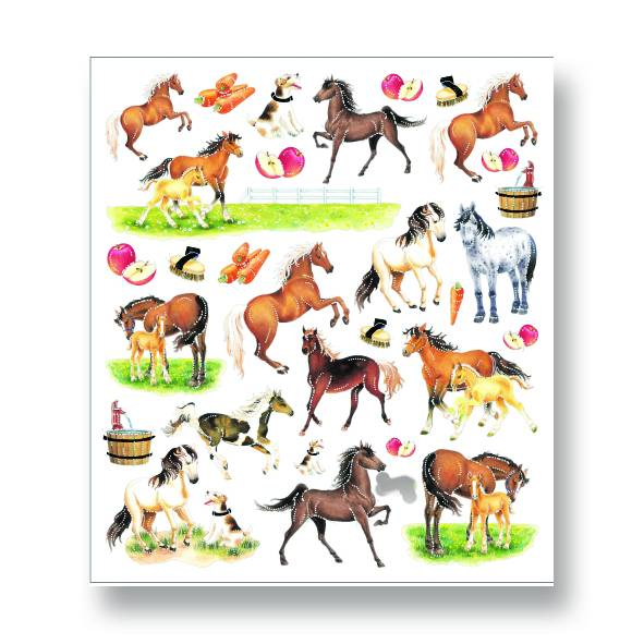 Kelley Horses & Apples Stickers