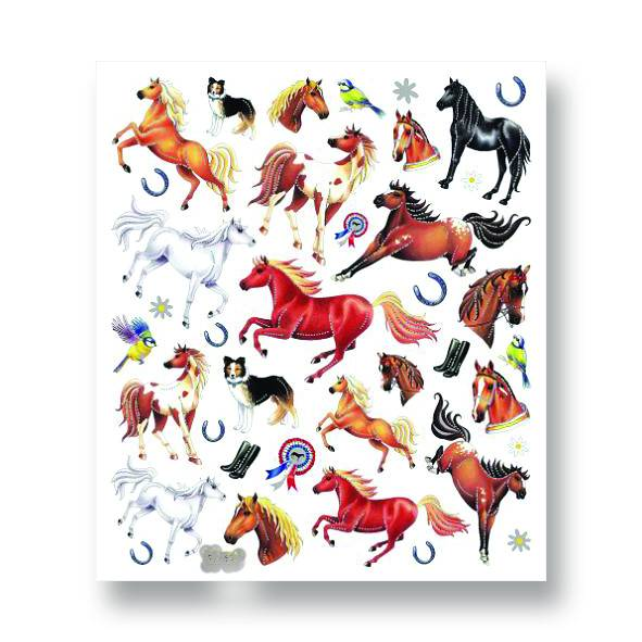 Kelley Horses & Ribbons Stickers