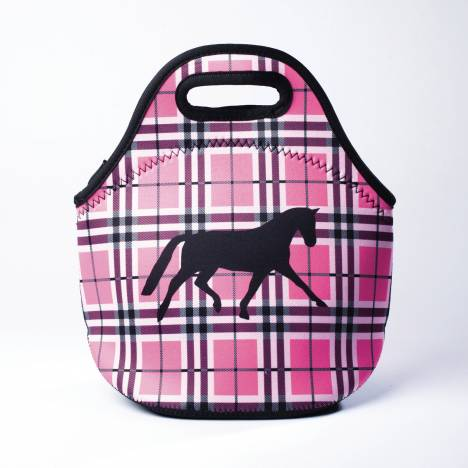 Kelley Tek Trek Neoprene Plaid Lunch Tote