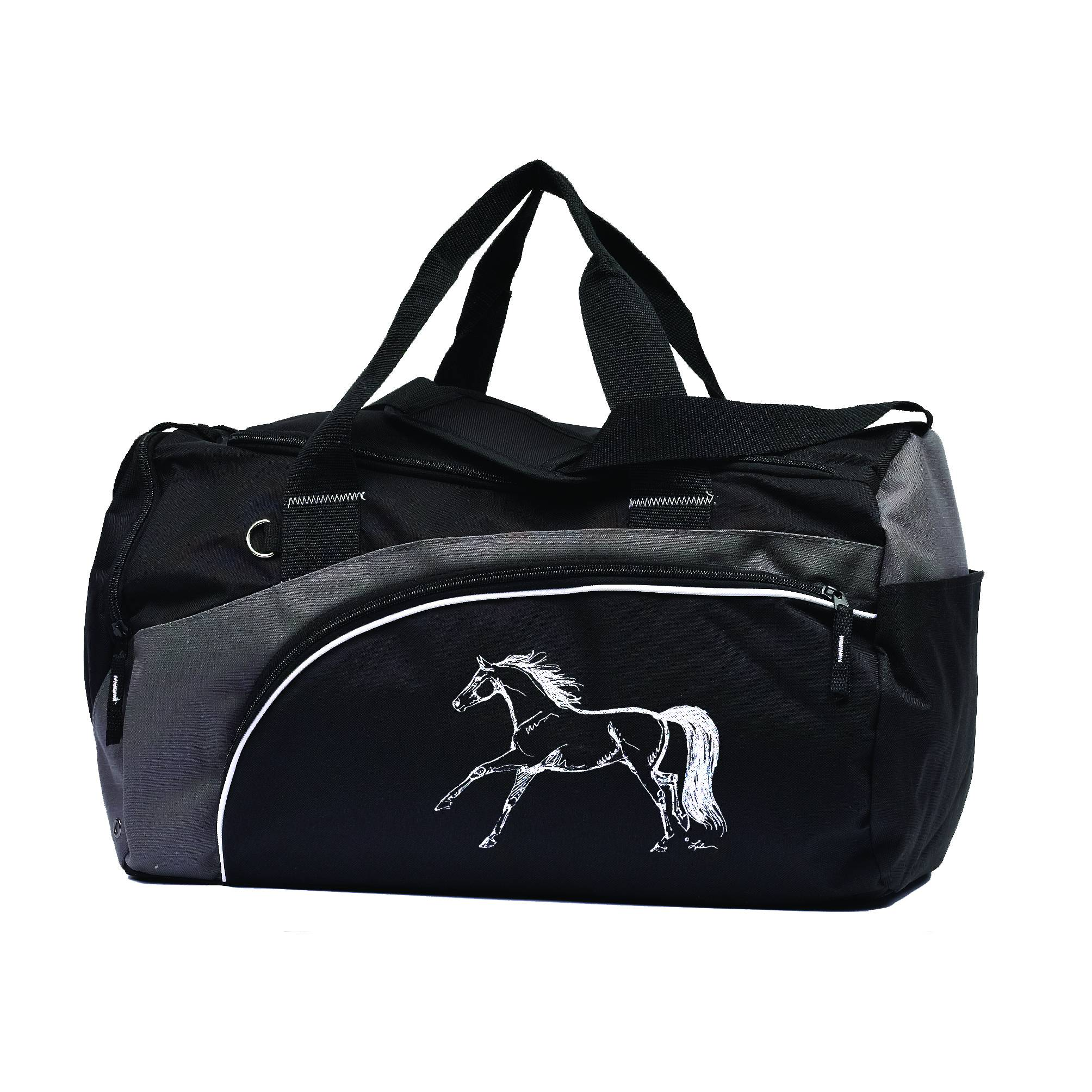 Kelley Duffle Bag with Horse - Black