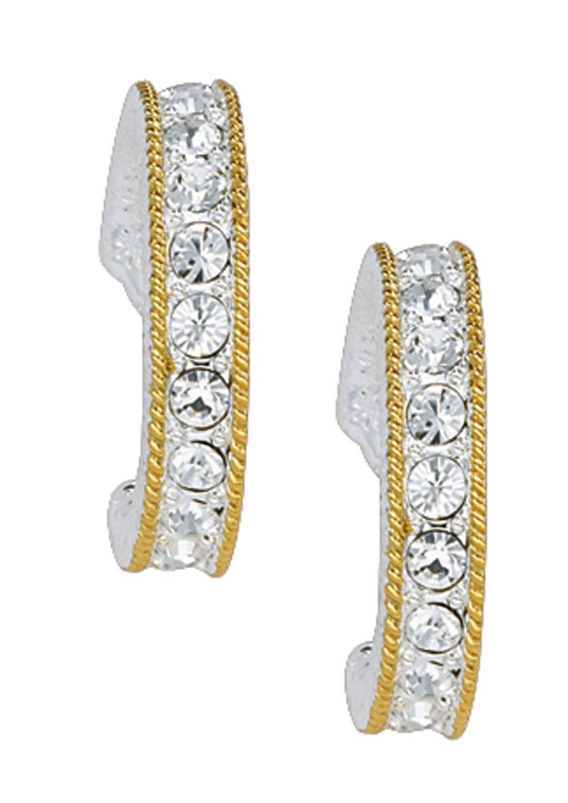 Montana Silversmiths Crystal Shine In Gold Cuff Earrings