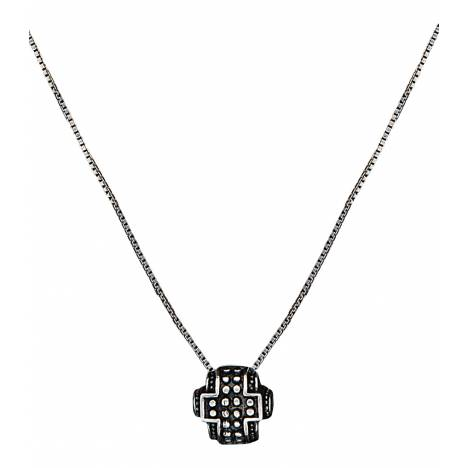 Montana Silversmiths Half Bead Cross Necklace