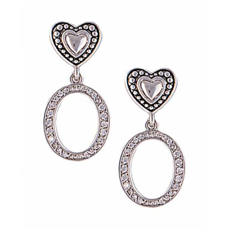 Montana Silversmiths Vintage Charm Hearts And Hoops Earrings