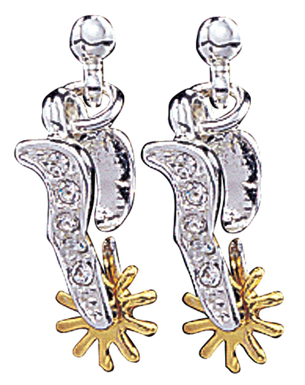 Montana Silversmiths Sparkling Spurs Drop Earrings