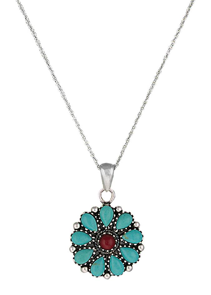 Montana Silversmiths Canyon Colors Turquoise Wildflower Necklace