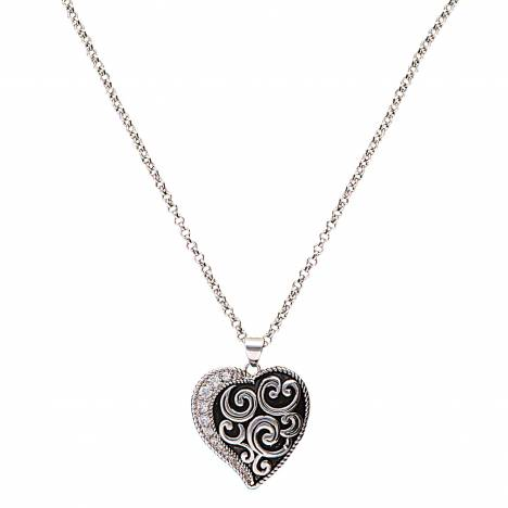 Montana Silversmiths Vintage Charm Every Heart Has A Silver Lining Necklace