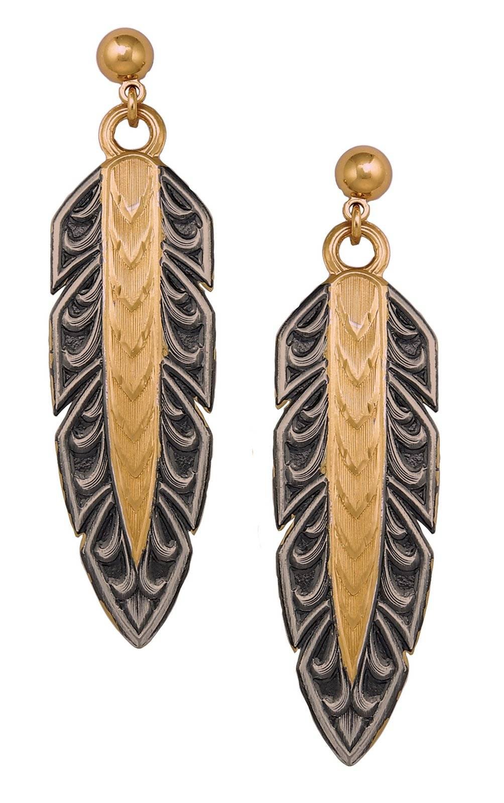Montana Silversmiths Classics Hawk Feather Dangle Earrings