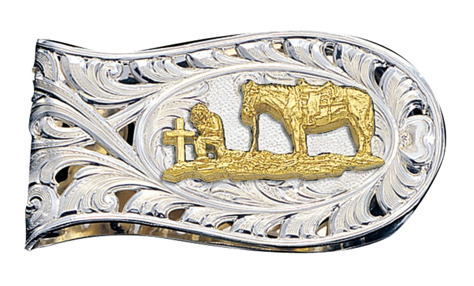 Montana Silversmiths Christian Cowboy Cut Filigree Money Clip