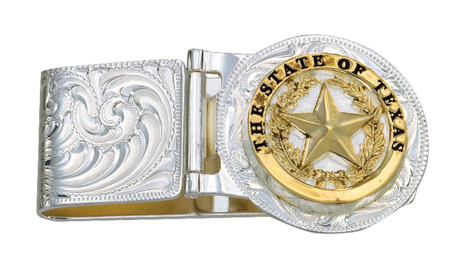 Montana Silversmiths Texas Star Hinged Money Clip