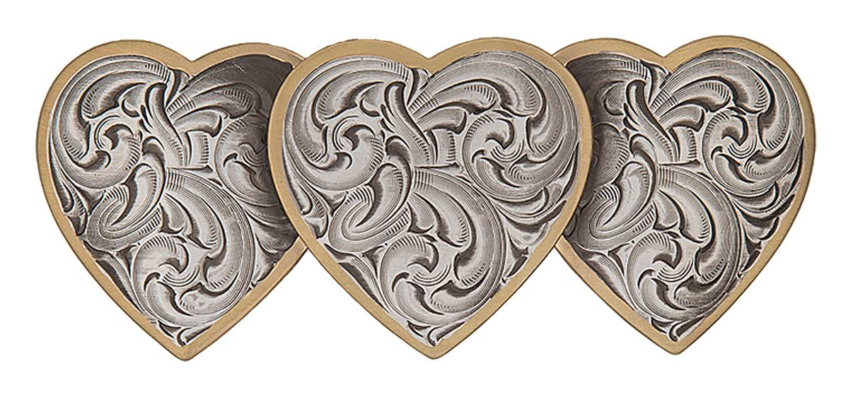 Montana Silversmiths Classic Triple Heart Hair Barrette