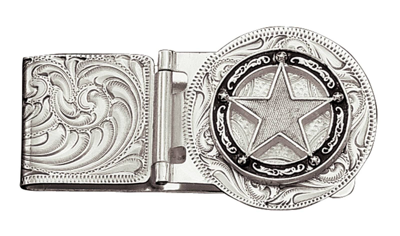 Montana Silversmiths Star Concho Hinged Money Clip