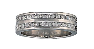 Montana Silversmiths Two Trails Channel Set Band Ring