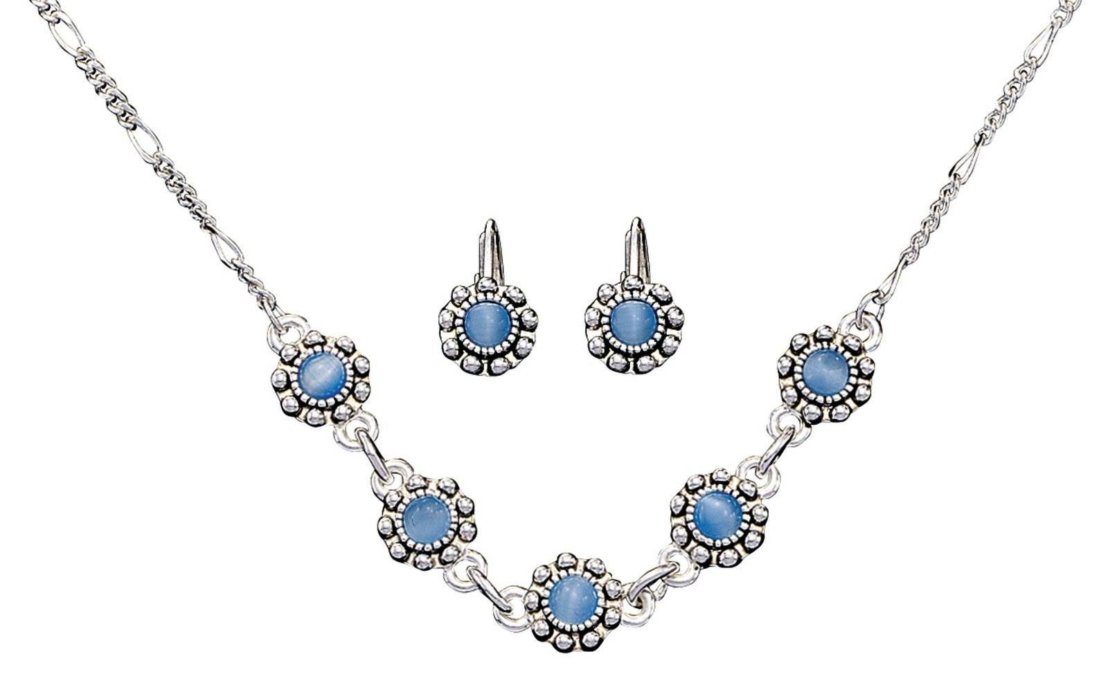 Montana Silversmiths Blue Flowers Jewelry Set