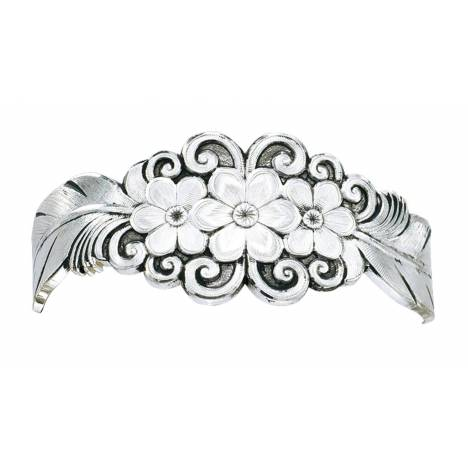 Montana Silversmiths Antiqued Silver Flower And Feather Spray Cuff Bracelet
