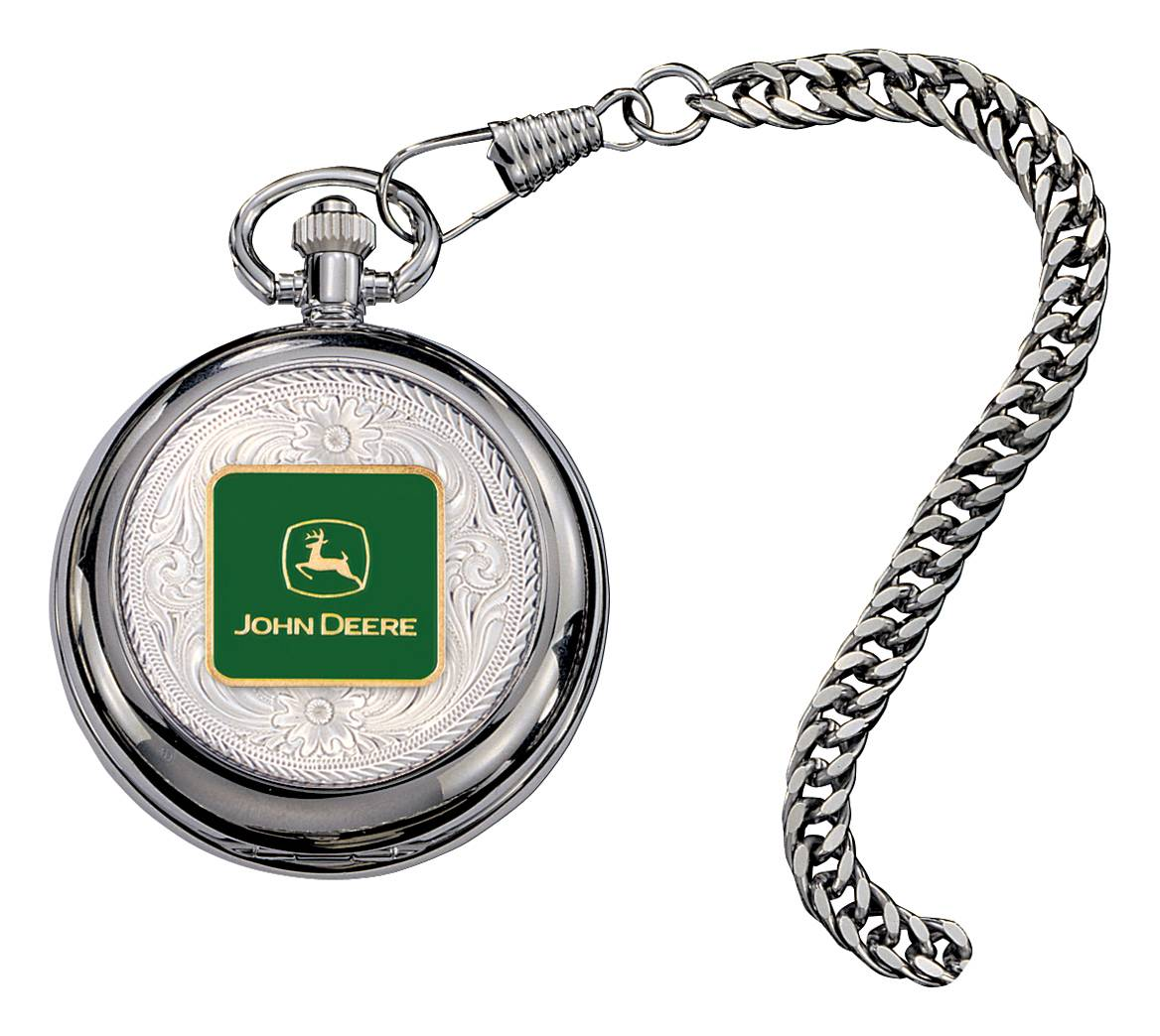 Montana Silversmiths John Deere Logo Figure Pocket Watch