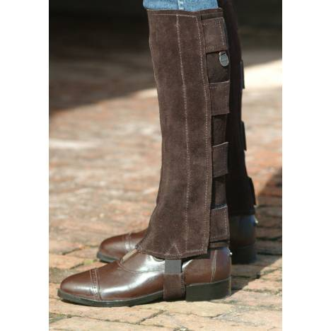 Ovation Ladies Suede Hook & Loop Closure Half Chaps