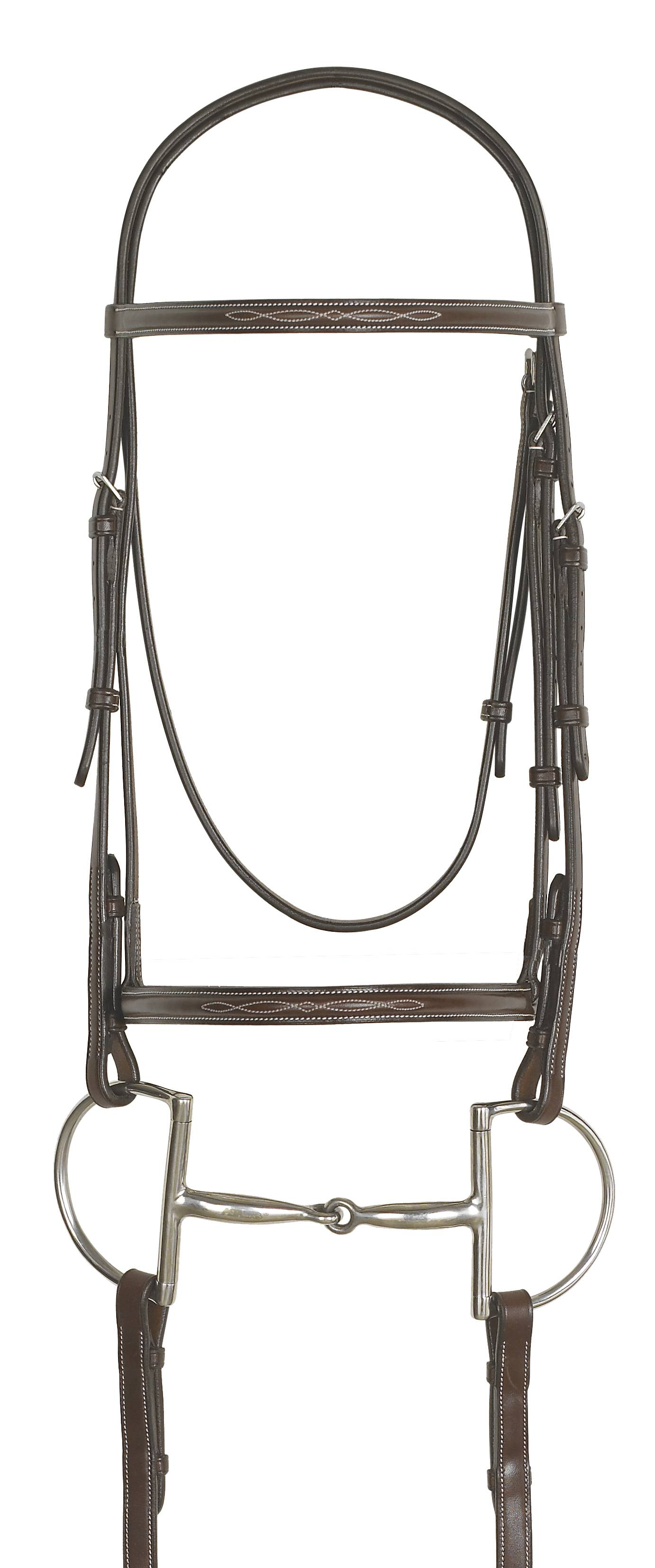 Ovation Dark Brown Fancy Stitched Bridle with Reins