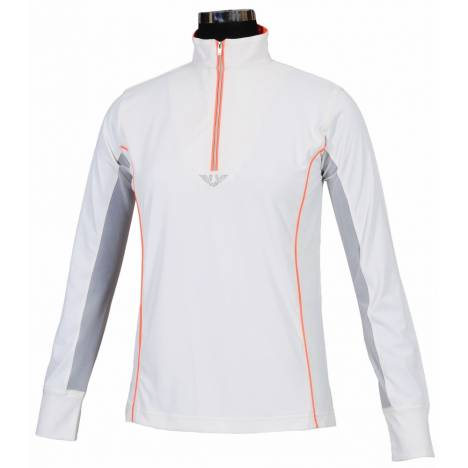 Tuffrider Neon Mock Zip Sport Shirt- Ladies