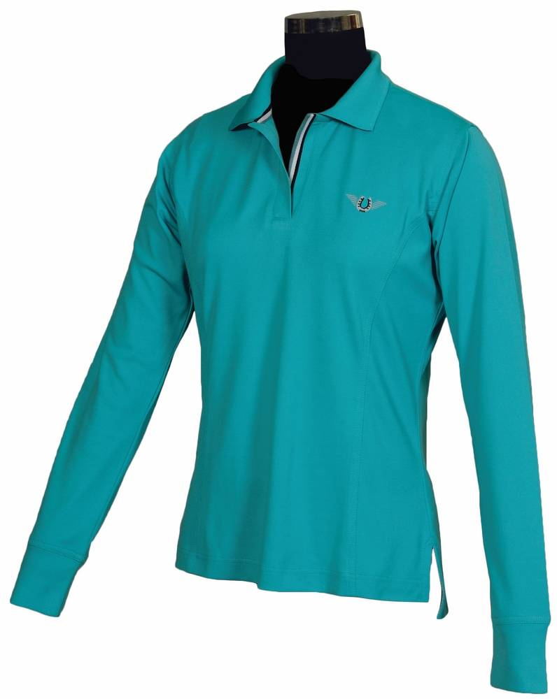 Tuffrider Tech Polo Shirt - Ladies, long sleeve