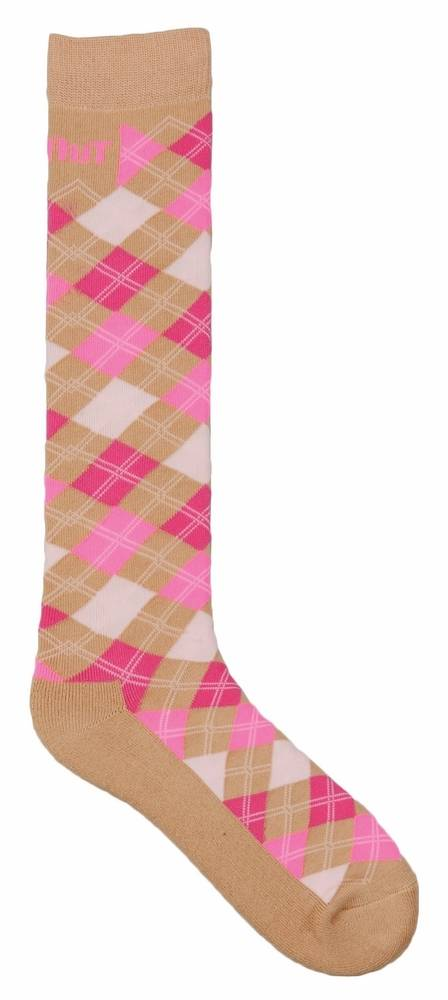 Tuffrider Neon Argyle Knee Socks - Ladies