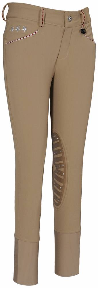 Equine Couture Stars & Stripes Breeches - Kids, Knee Patch