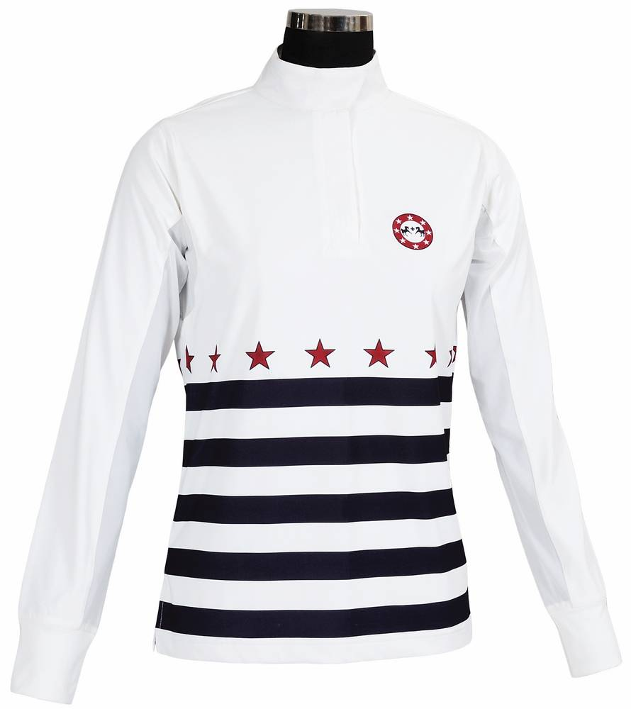 Equine Couture Super Star Show Shirt - Ladies, Long Sleeve
